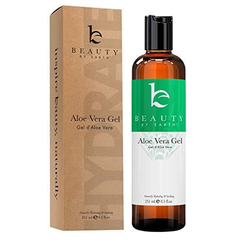 Aloe Vera Gel - Organic Aloe Vera Plant for After Sun Lotion, Pure Aloe Vera Gel for Sunburn Relief, Aloe Gel is Best for Face, Hair, Skin Soothing Gel for Burns, Rashes, Bites, Eczema (1 Bottle)