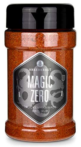 Ankerkraut Magic ZERO, Magic Dust OHNE ZUCKER, BBQ Rub Gewürzmischung zum Grillen von Fleisch und Gemüse, 230g im Streuer