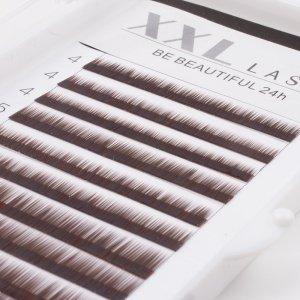Cils droits sans courbe pour sourcils, reconstruction et extensions pour sourcils, 1 boîte de 12 rangées de longueurs différentes pour épaissir et allonger les sourcils, faux sourcils, Color brun foncé