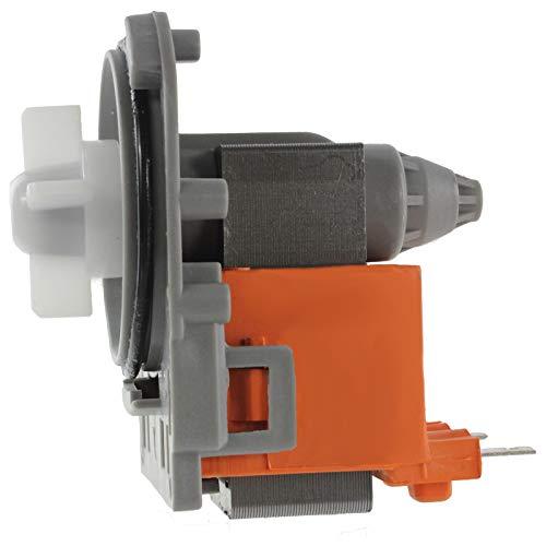 Spares2go - Pompa di scarico per lavatrice AEG (240 V/50 Hz, 30 W, terminali posteriori della targa)