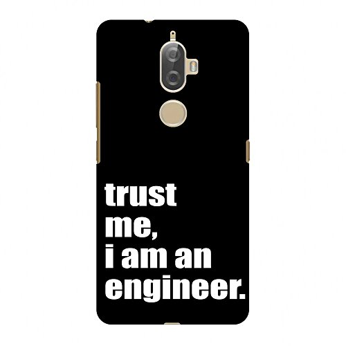 Amzer Slim Fit Handcrafted Designer Printed Snap On Hard Shell Case Back Cover with Screen Cleaning Kit Skin for Lenovo K8 Plus - Proud To Be A Engineer 1 HD Color, Ultra Light Back Case