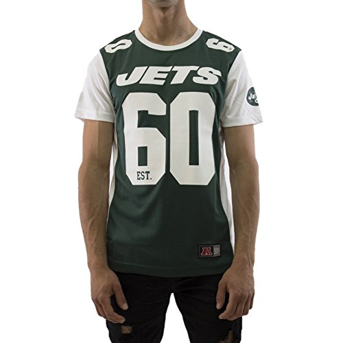 Majestic T-Shirt – NFL New York Jets Dene Poly Mesh Grün/Weiß Größe: M (Medium)
