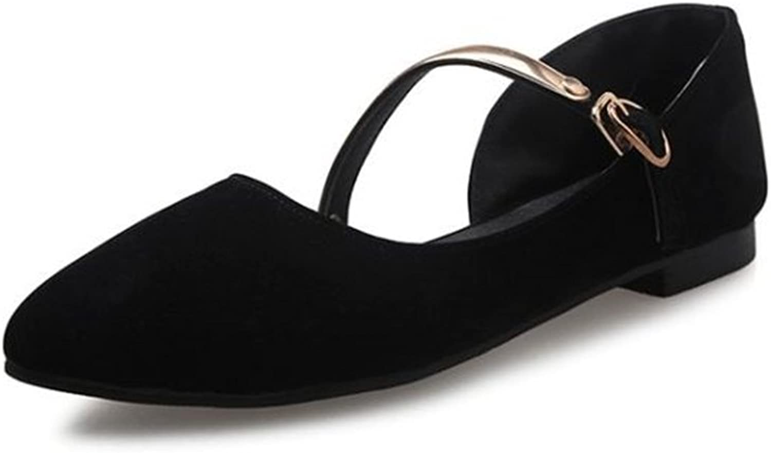 Gusha Solid color Comfortable Casual shoes Flat Women's shoes Pointed Toe Loafers