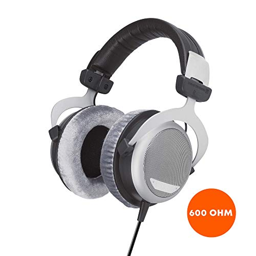 beyerdynamic DT 880 Premium Edition Over-Ear-Stereo Headphones. Semi-Open Design, Wired, high-end (32, 250, or 600 Ohm) (600 OHM, Gray)