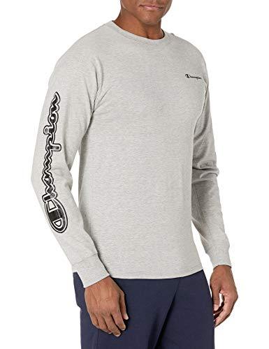 Champion Classic tee Camiseta, Oxford Gray – Emblema y Pecho, XL para Hombre
