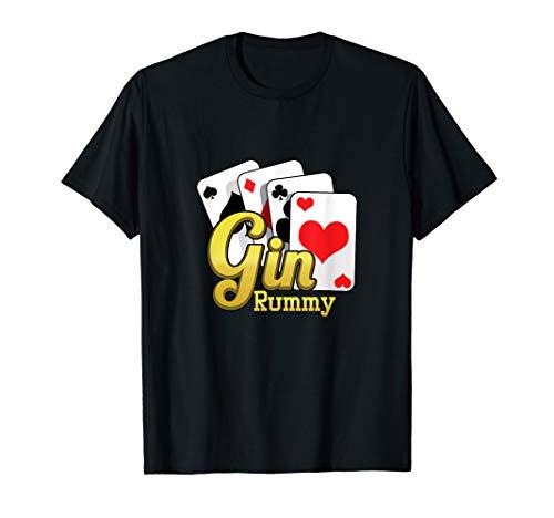 Gin Rummy Asse Kartenspiel Kartenstapel Spielkarten Geschenk T-Shirt