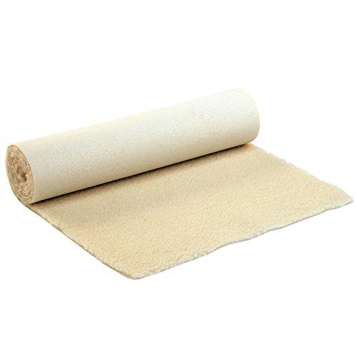 Schurwoll-Yogamatte Natur, SURYA, Premium Schurwoll-Matte, extra-dicke & kuschelige Matte aus Schurwolle, rutschfest, extra-weich, 200 x 90 cm (Hochflor, 1.500g/m²), Schurwollmatte