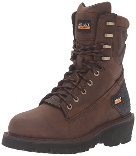 Ariat Men's Powerline 8 in. H2O Boots Oily Distressed Brown 15 D