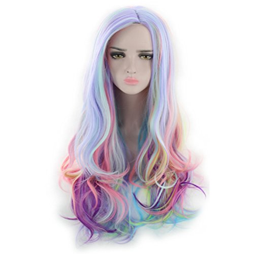 """BERON 27"""" Long Wavy Multi color Hair Wigs Women or Girls Full Cosplay Party Wigs"""