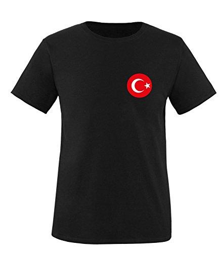 Luckja EM 2016 Trikot Türkei Fanshirt EM02 Herren Rundhals T-Shirt