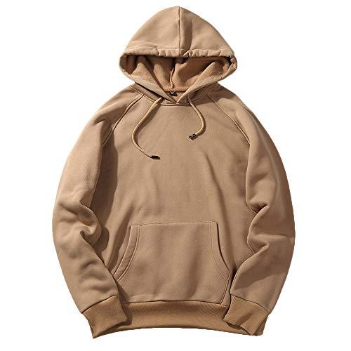 GODDOIT Herren Basic Kapuzenpullover Sweatjacke Pullover Hoodie Sweatshirt
