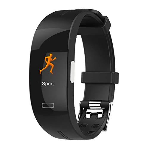 KTYX Rejol Inteligente Deportivo for Hombre y Mujer,IP67 Impermeable Pulsera con Monitor de Frecuencia Cardíaca y Presión Arterial, Monitor de Sueño Reloj Inteligente (Color : Black)