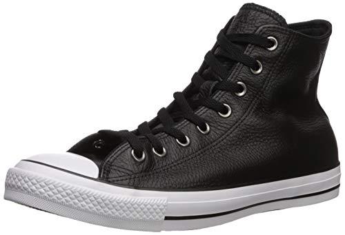 Converse Herren Chuck Taylor All Star Leather Turnschuh, schwarz/weiß/schwarz, 42 EU