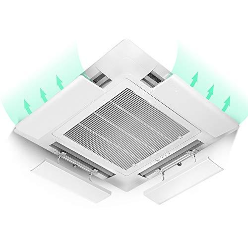 Klimaanlagen-Abweiser FüR Decken-Zentralklimaanlage,Verhindert Direktes Blasen Der Luft,Einstellbarer Winkel,Geeignet FüR 43-73 Cm,Pc-Harzmaterial (EinzelstüCk)