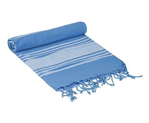 Textil Tarragó Toalla fouta Azul 95x165 cm 100% algodón