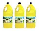 El Galgo Lejía Lote de 3 Botellas de 5 litros. Hipoclorito de Sodio, con una solución de 40 gr. de Cloro Activo por litro.