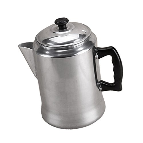 Non-brand 1 Piece 3L Polished Aluminum Alloy Kitchen Camp Coffee Pot Percolator