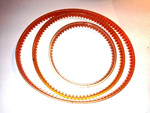 New 3 BELT REPLACEMENT Set For Central Machinery Mini Lathe Mill Machine Model 39743