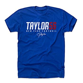500 LEVEL Lawrence Taylor Shirt  Cotton XXX-Large Royal Blue  - Lawrence Taylor Taylor56 W WHT
