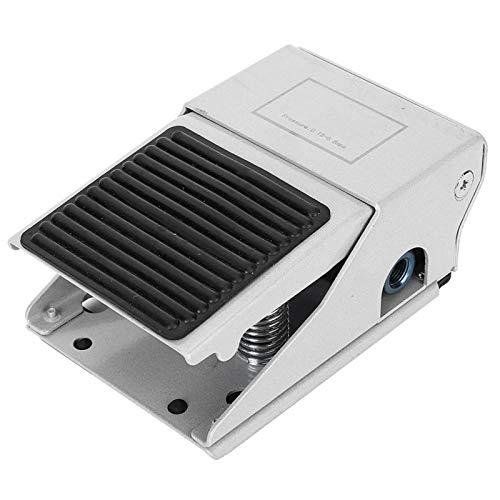 Pedal de compresor, 3 vías, 2 posiciones, control de prensa de pie, interruptor de válvula de pedal neumático de aire roscado G1 / 4 con alto rendimiento