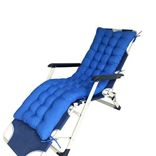Presidente del amortiguador, Patio respaldo alto Tumbona Cojín cubierta exterior Chaise Lounge Cojín espesa el cojín de la silla de oscilación Sillón Mat D5 / 9 (Color: Azul 3, tamaño: 155x48x8cm) Zix