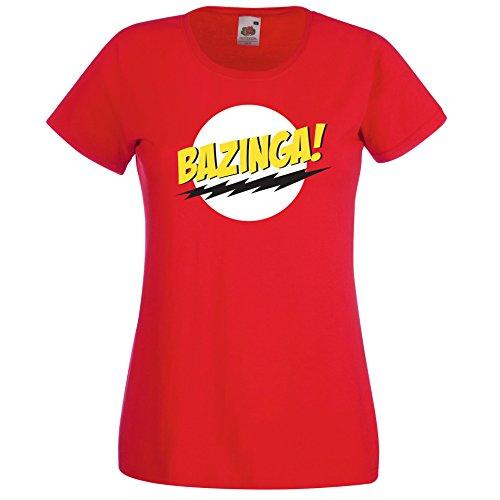TRVPPY Damen T-Shirt Modell Bazinga Farbe Rot Größe XS