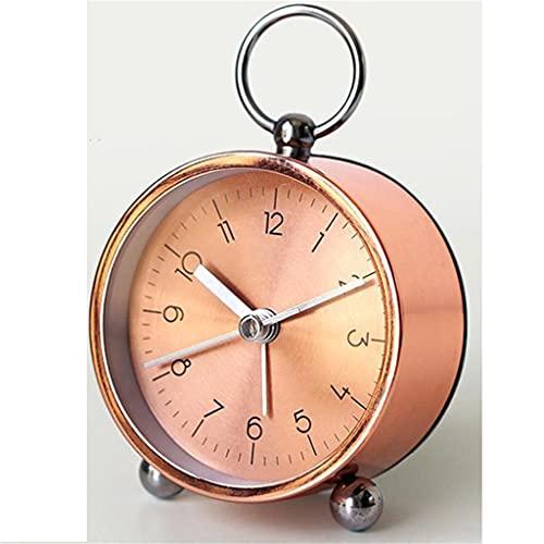 KLHDGFD Reloj despertador creativo nórdico para niños, estudiantes, dormitorio, mesita de noche, reloj de oficina, escritorio, reloj silencioso, decoración para el hogar y la sala de estar