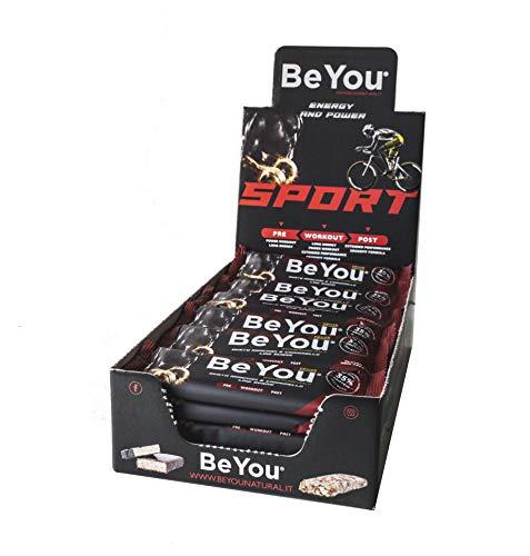 Barrette Snack proteiche 35% di Proteine -Be You Sport Power Workout -24 barrette gusto Arachidi, Caramello, e Cioccolato al latte -Low Sugar con BCAA (2:1:1)