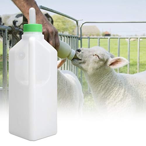 Biberón de alimentación para terneros, biberón para animales, biberón para terneros de 850 ml, boquilla de silicona, botella de silicona blanca para animales