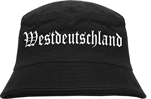HB_Druck HB_Druck Westdeutschland Fischerhut - Bucket Hat L/XL Schwarz