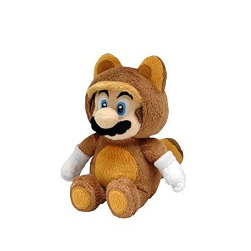 Little Buddy Offizielles Super Mario Plüsch Waschbär, Tanooki Mario, 9Zoll