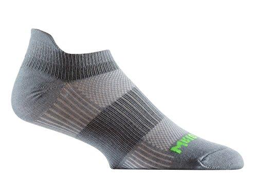Wrightsock Coolmesh II Tab Running Socks - 2 Pack, Steel Grey, Large