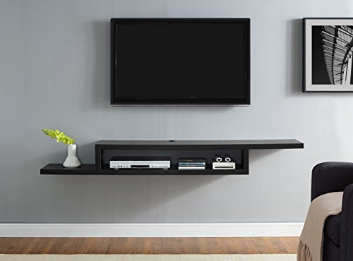 Martin Furniture Asymmetrical Wall Mounted, 72', Black