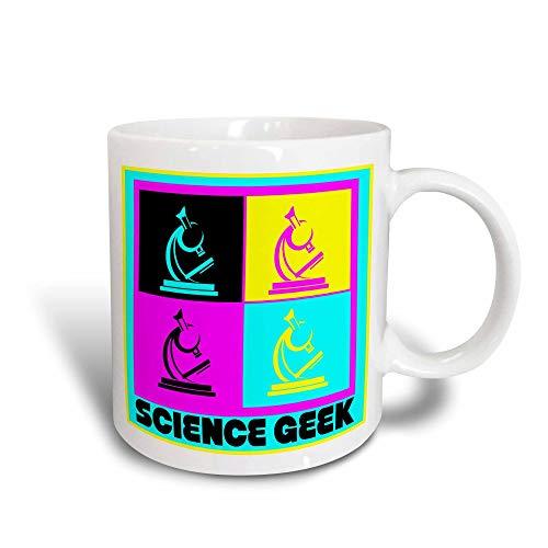 Mug_102397_2 Cmyk Pop Art Microscope Science Geek Design Cartoon Ceramic Mug, 15-Ounce V97JVD