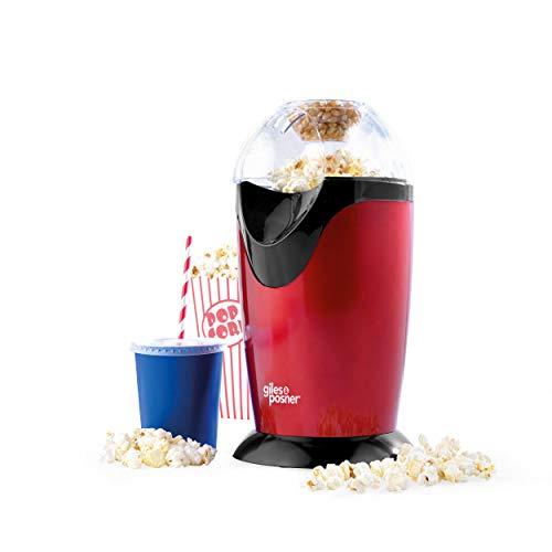 Giles & Posner EK0493GVDEEU7 - Macchina per popcorn con misurino | Spina europea | 1200 W | Popcorn gustosi in 3 minuti | Senza olio