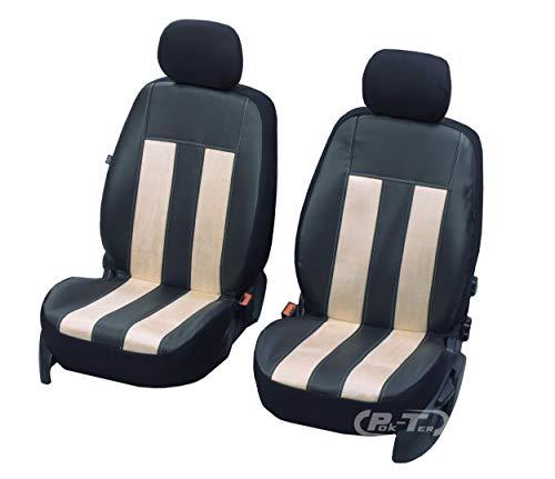 Nieuwe serie - GT universele stoelhoezen compatibel met Nissan Micra eenvoudige montage voorste hoezen GT VANIL