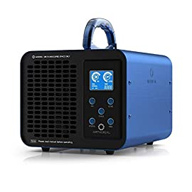 Airthereal MA10K-PRODIGI Digital Ozone Generator 10,000mg/hr High Capacity Odor Remover Ionizer - Adjustable Settings… 1 POWERFUL CAPACITY: With a max ozone output of 10, 000mg per hour and a honeycomb current technology, this ozone generator packs a punch when compared to smaller-output units. In addition to regular home use, this also makes the MA10K-PRODIGI perfect for larger areas like offices, restaurants, hotels, and garages. EASY CONTROL INTERFACE: Extra buttons and settings make things confusing, so we got rid of them! With only 5 buttons on the control panel and an easy-to-read LCD display, you can get your ozone generator up and running in a matter of seconds. EXTRA LONG TIMER: For those extra strong odors, you may need to run your ozone generator for longer periods of time. The upgraded timer on your Airthereal ozone generator allows you to produce ozone for up to 12 hours at a time, which will help eliminate even the toughest odors.