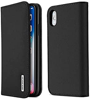 Business styel iPhone Xs/iPhone X case genuine leather wallet flip phone shell card holder cover anti fall protective slee...