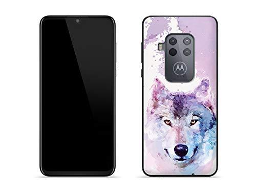 etuo Hülle für Motorola One Zoom - Hülle Fantastic Hülle - Traumwolf Handyhülle Schutzhülle Etui Hülle Cover Tasche für Handy