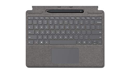 Microsoft Surface Pro X Signature Keyboard in Bundle con Slim Pen Platino (tastiera QWERTZ)