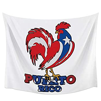 BABE MAPS Farm Animals Tapestries for Wall Decor Polyester Home Decorations for Living Room Bedroom Dorm Decor 39x59inch Multi-Use & Durable Puerto Rican Rooster