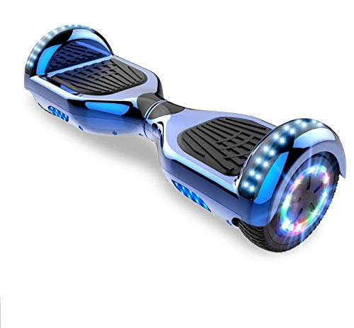 Hoverboards, Bluetooth 6.5 Pouces Self Balancing Scooter Gyropode avec Roues Flash LED E-Scooter z29 (Blue)