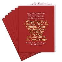 Elizabeth Gilbert Merely A Rocket Card (Pack of 6)