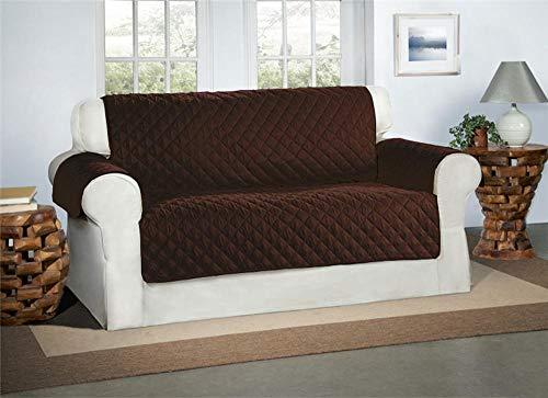 Safari Homeware Cubre Chocolate/Marrón para Sofás de 2 Plazas - Protector para Sofás Muebles Acolchado de Lujo