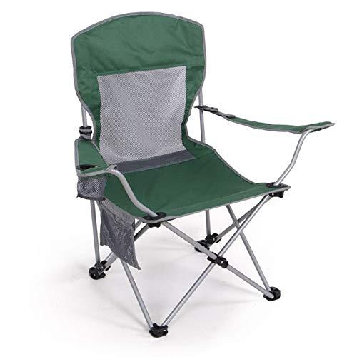 GHH Chaise De Camping Fauteuil Pliable Réglable Portable Porte Boisson Sac De Transport,Green