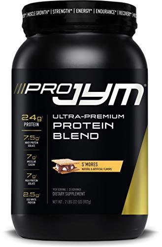 Pro JYM Protein Powder - Egg White, Milk, Whey Protein Isolates & Micellar Casein | JYM Supplement Science | S'Mores, 2 lb