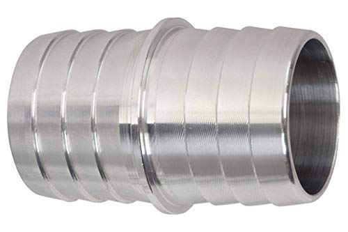 ICT Billet 1-1/4 to 1-1/4 Inch Hose Barb Splice Coupler Repair Fitting Adapter Connector Radiator Coolant Intercooler Heat Exchanger Fluid Designed & Manufactured in USA Bare Aluminum AN627-20A