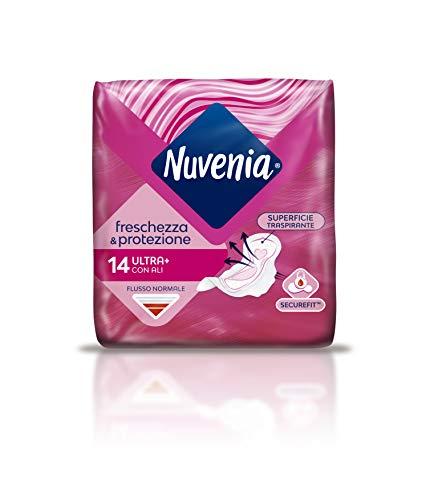 Nuvenia - Assorbente Normal Ultra con Ali - Superficie Traspirante e Assorbenza Rapida - Confezione da 14 Assorbenti