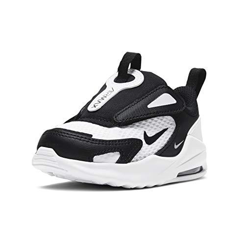 Nike Air MAX Bolt, Zapatos Unisex niños, Blanco, Negro y Blanco, 23.5 EU