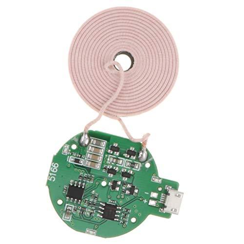 Toygogo Qi DIY Cargador Inalámbrico PCBA Placa de Circuito Cojín de Carga de Bobina para Teléfono Inteligente